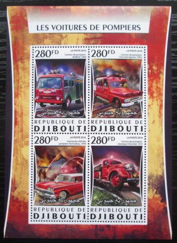 Poštovní známky Džibutsko 2016 Hasièská auta Mi# Mi# 1079-82 Kat 12€