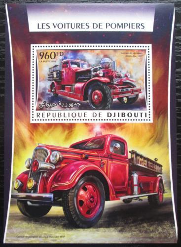 Poštovní známka Džibutsko 2016 Hasièská auta Mi# Mi# Block 219 Kat 12€