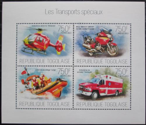 Poštovní známky Togo 2013 Záchranáøi Mi# Mi# 5361-64 Kat 12€