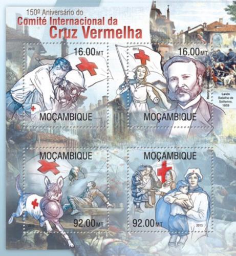 Poštovní známky Mosambik 2013 Èervený køíž, 150. výroèí Mi# 6722-25 Kat 13€