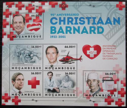 Poštovní známky Mosambik 2012 První operace srdce, Christian Barnard Mi# 6118-23 Kat 14€