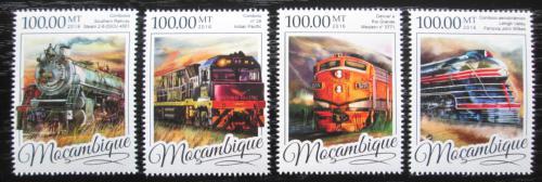 Poštovní známky Mosambik 2016 Parní lokomotivy Mi# 8629-32 Kat 22€