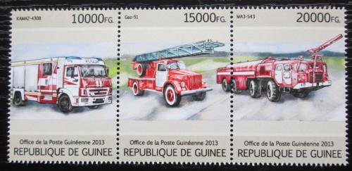 Poštovní známky Guinea 2013 Ruská hasièská auta Mi# 9705-07 Kat 18€