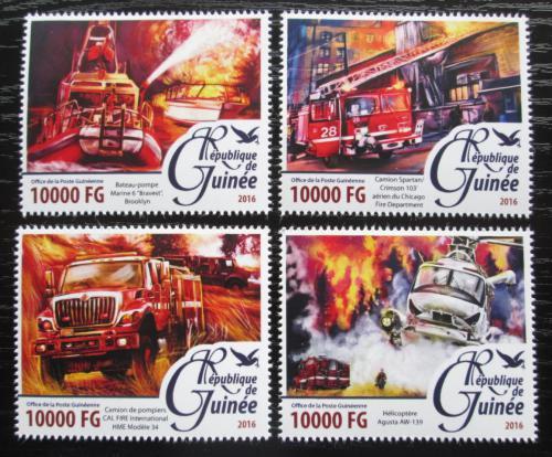Poštovní známky Guinea 2016 Hasièská auta Mi# 11696-99 Kat 16€