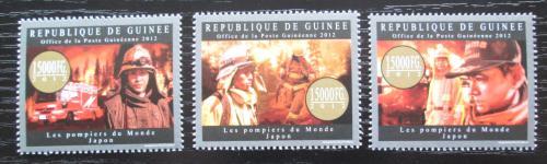 Poštovní známky Guinea 2012 Japonští hasièi Mi# 9557-59 Kat 18€