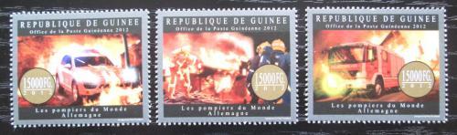 Poštovní známky Guinea 2012 Nìmeètí hasièi Mi# 9554-56 Kat 18€