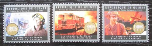 Poštovní známky Guinea 2012 Ameriètí hasièi Mi# 9551-53 Kat 18€