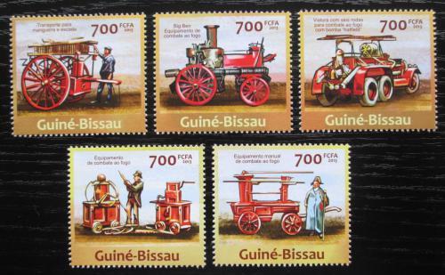 Poštovní známky Guinea-Bissau 2013 Historická hasièská auta Mi# 6620-24 Kat 14€