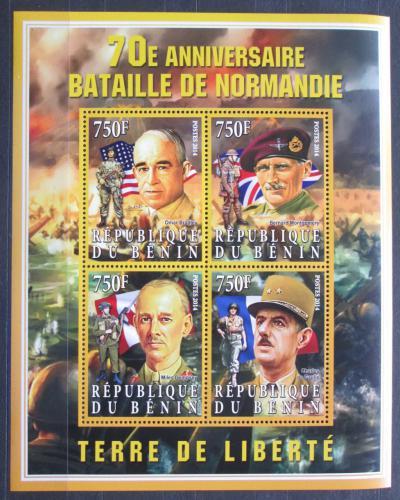 Poštovní známky Benin 2014 Bitva o Normandii, 70. výroèí Mi# N/N