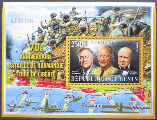Poštovní známka Benin 2014 Bitva o Normandii, 70. výroèí Mi# N/N