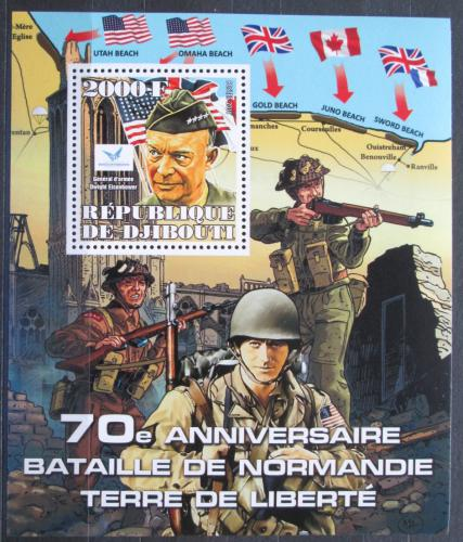 Poštovní známka Džibutsko 2014 Bitva o Normandii, 70. výroèí Mi# N/N