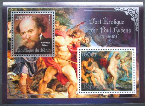 Poštovní známky Benin 2013 Umìní, akty, Peter Paul Rubens Mi# N/N