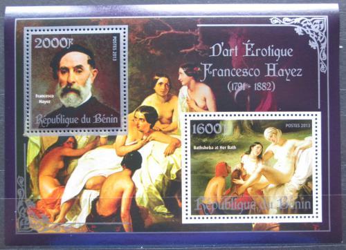 Poštovní známky Benin 2013 Umìní, akty, Francesco Hayez Mi# N/N