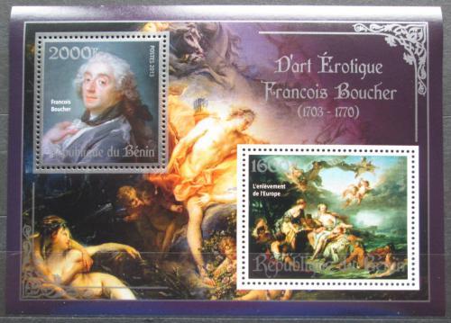 Poštovní známky Benin 2013 Umìní, akty, Francois Boucher Mi# N/N