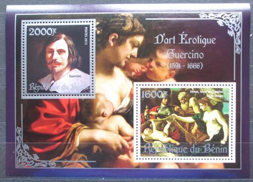 Poštovní známky Benin 2013 Umìní, akty, Guercino Mi# N/N