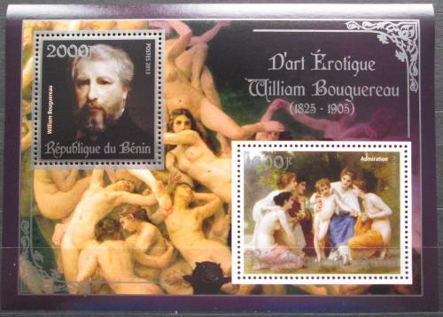 Poštovní známky Benin 2013 Umìní, akty, Bouguereau Mi# N/N