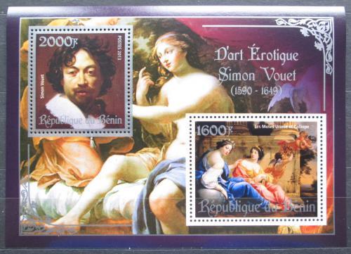 Poštovní známky Benin 2013 Umìní, akty, Simon Vouel Mi# N/N