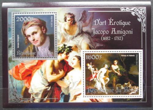 Poštovní známky Benin 2013 Umìní, akty, Jacopo Amigoni Mi# N/N