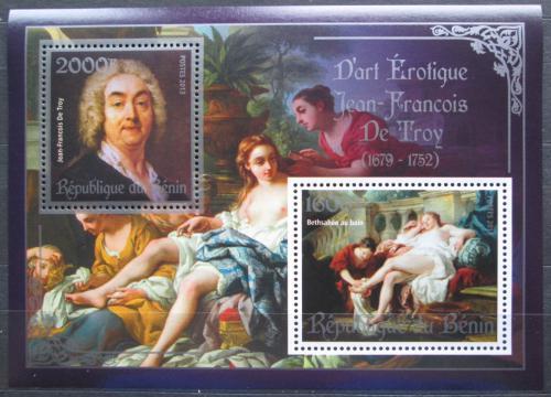 Poštovní známky Benin 2013 Umìní, akty, Jean Francois De Troy Mi# N/N