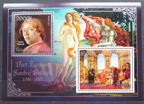 Poštovní známky Benin 2013 Umìní, akty, Sandro Botticelli Mi# N/N