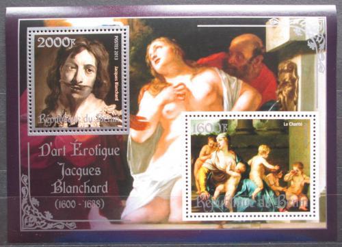 Poštovní známky Benin 2013 Umìní, akty, Jacques Blanchard Mi# N/N