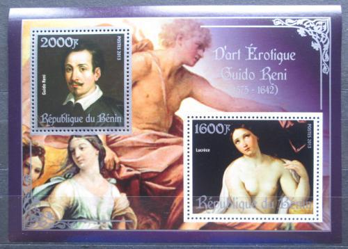 Poštovní známky Benin 2013 Umìní, akty, Guido Reni Mi# N/N
