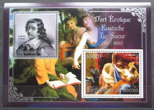 Poštovní známky Benin 2013 Umìní, akty, Eustache Le Sueur Mi# N/N