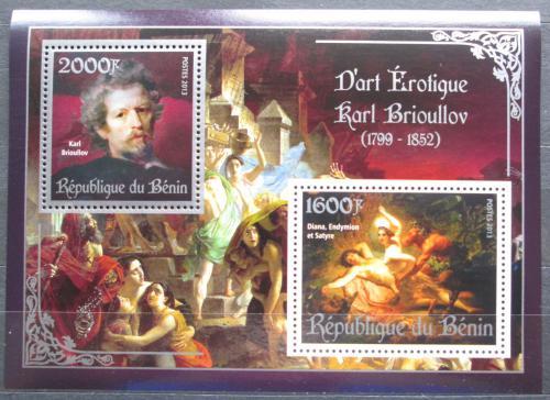 Poštovní známky Benin 2013 Umìní, akty, Karl Brjullov Mi# N/N