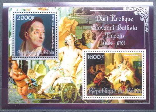 Poštovní známky Benin 2013 Umìní, akty, Giovanni Battista Tiepolo Mi# N/N