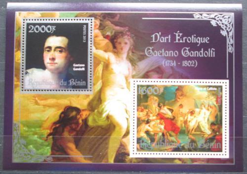 Poštovní známky Benin 2013 Umìní, akty, Gaetano Gandolfi Mi# N/N