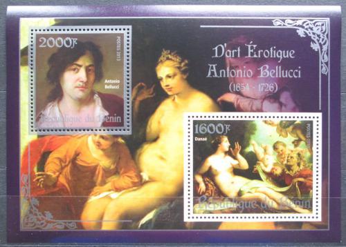 Poštovní známky Benin 2013 Umìní, akty, Antonio Bellucci Mi# N/N