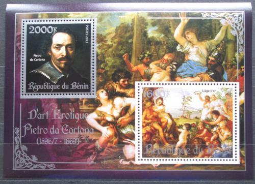 Poštovní známky Benin 2013 Umìní, akty, Pietro da Cortona Mi# N/N
