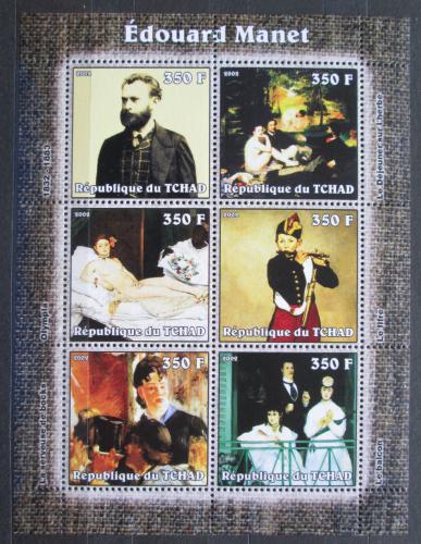 Poštovní známky Èad 2002 Umìní, Edouard Manet Mi# 2334-39 Kat 9.50€