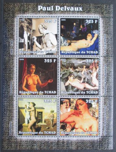 Poštovní známky Èad 2002 Umìní, Paul Delvaux Mi# 2328-33 Kat 9€