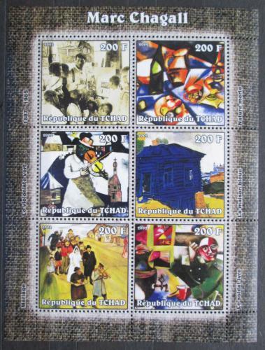 Poštovní známky Èad 2002 Umìní, Marc Chagall Mi# 2310-15