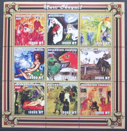 Poštovní známky Mosambik 2001 Umìní, Marc Chagall Mi# 1998-2006 Kat 12€