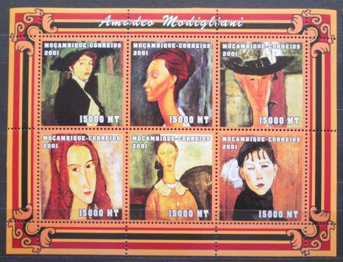 Poštovní známky Mosambik 2001 Umìní, Amadeo Modigliani Mi# 2133-38 Kat 11€