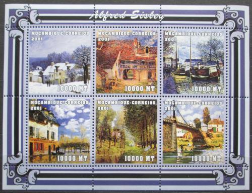 Poštovní známky Mosambik 2001 Umìní, Alfred Sisley Mi# 1992-97 Kat 11€