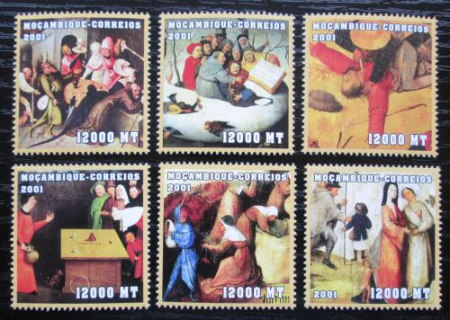 Poštovní známky Mosambik 2001 Umìní, Bosch Mi# 2079-84 Kat 11€