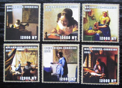 Poštovní známky Mosambik 2001 Umìní, Vermeer Mi# 2121-26 Kat 11€