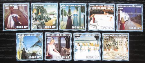 Poštovní známky Mosambik 2001 Umìní, Paul Delvaux Mi# 2025-33 Kat 11€