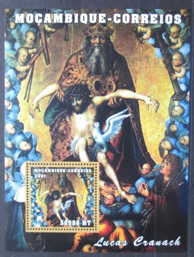 Poštovní známka Mosambik 2001 Umìní, Lucas Cranach Mi# Block 95 Kat 8.50€