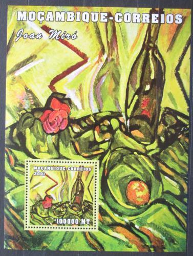 Poštovní známka Mosambik 2001 Umìní, Joan Miró Mi# Block 113 Kat 8.50€