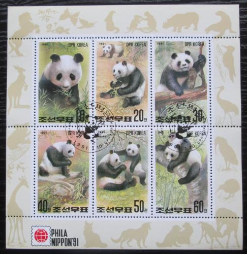 Poštovní známky KLDR 1991 Pandy Mi# 3165-70 Bogen