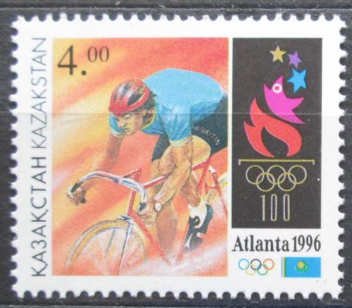 Poštovní známka Kazachstán 1996 LOH Atlanta, cyklistika Mi# 123