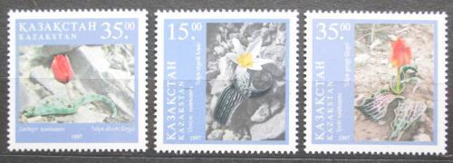 Poštovní známky Kazachstán 1997 Tulipány Mi# 182-84
