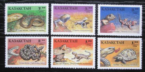 Poštovní známky Kazachstán 1994 Obojživelníci a plazi Mi# 51-56