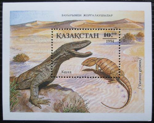Poštovní známka Kazachstán 1994 Obojživelníci a plazi Mi# Block 2