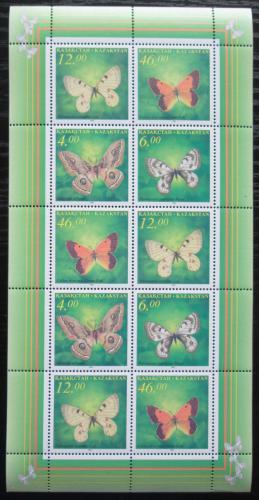Poštovní známky Kazachstán 1996 Motýli Mi# 139-42 Bogen