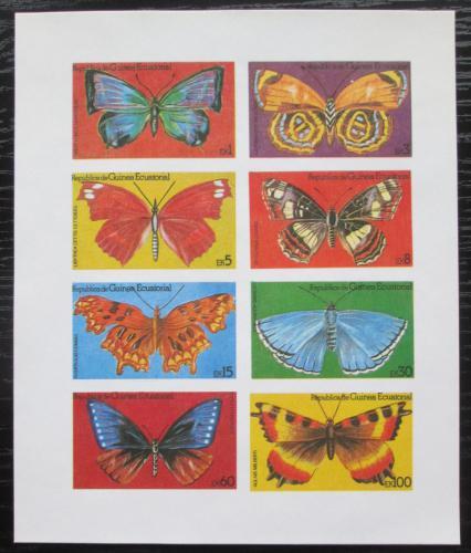Poštovní známky Rovníková Guinea 1981 Motýli neperf. Mi# N/N